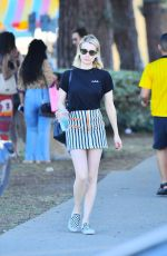 Emma Roberts Takes a stroll on Melrose Avenue in Los Angeles