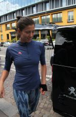 Garbine Muguruza Arriving for training session at the Roland Garros tennis tournament in Paris