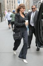 Gina Gershon Leaving SiriusXM studios in New York