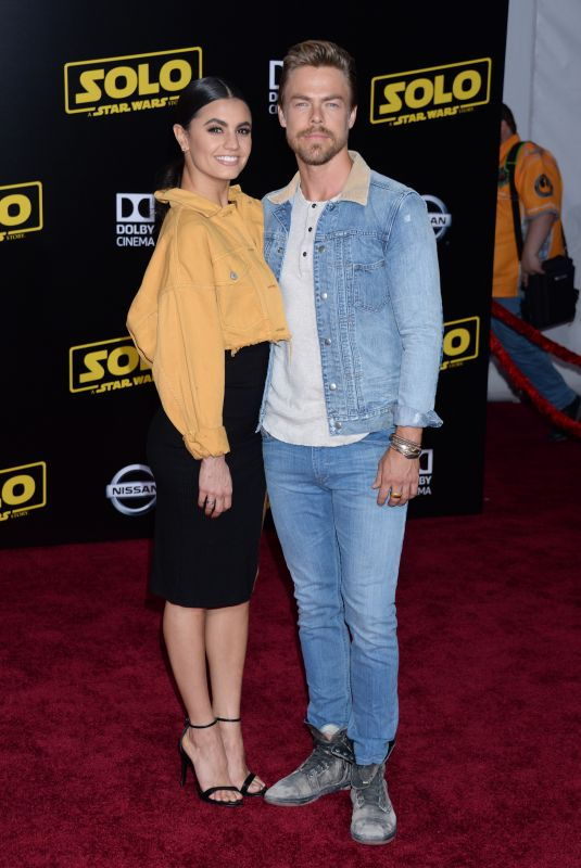 """Hayley Ebert and Derek Hough At """"Solo: A Star Wars Story"""" World Premiere in Los Angeles"""