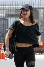 Hayley Erbert Arrives for practice at the Dancing With The Stars