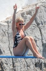 Hofit Golan In a black swimsuit and bikini at Eden Roc Hotel in Antibes