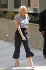 Holly Willoughby and Phillip Schofield are taking in the London sunshine at the ITV Studios