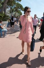 Janina Uhse Sighting at the croisette in Cannes, France