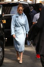 Jennifer Lopez and Alex Rodriguez arrive at NBC studios in New York