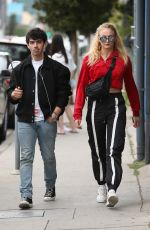 Joe Jonas & Sophie Turner Go shopping together at Kitson Kids in West Hollywood