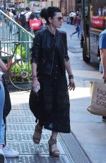 Julianna Margulies In all black ensemble while out and about in SoHo