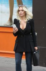 Kristina Rihanoff Seen Sporting A New Hairstyle In London