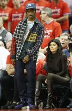 Kylie Jenner and Travis Scott At Houston Rockets vs Golden State Warriors Game 7