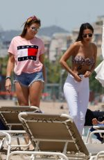 Lucy Watson With some friends on the beach in Barcelona