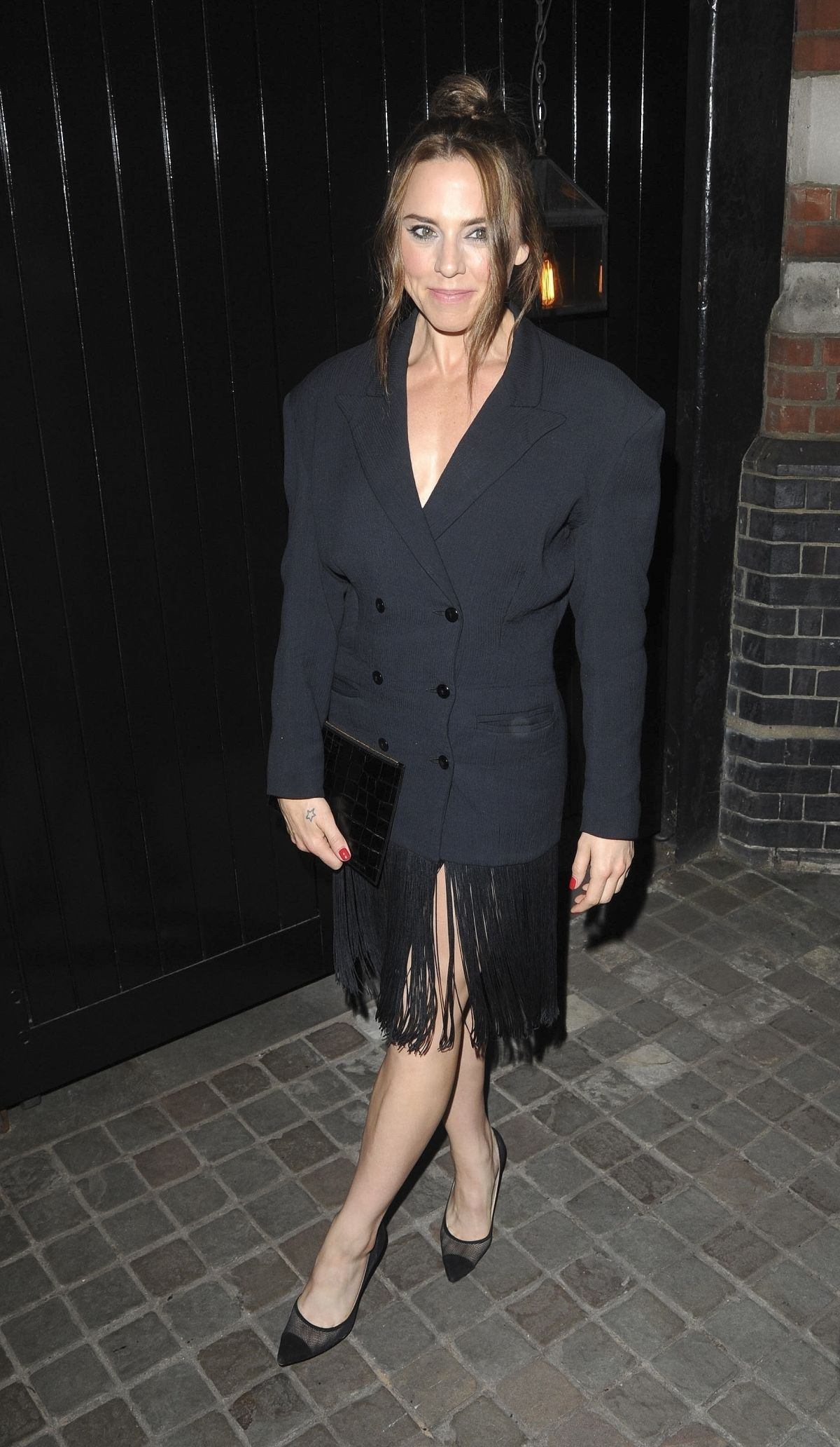Melanie C Arrives at Chiltern Firehouse for Kylie Minogues birthday