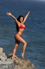 Melissa Riso In bikini while doing a photoshoot for 138 Water off PCH in Malibu