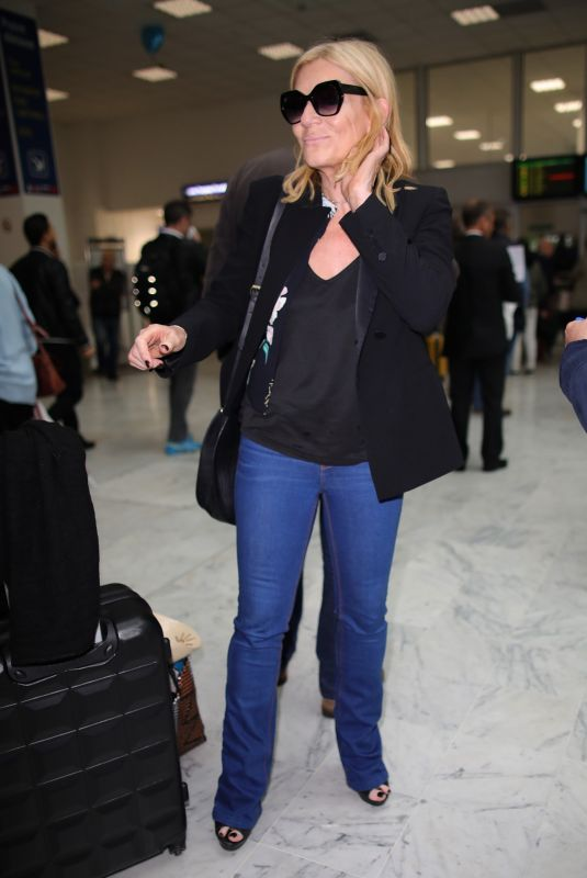 Michelle Collins Arriving at Nice Airport in France