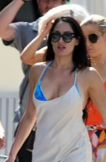 Nikki Bella In a blue bikini as she hits the pool while filming for Total Divas in Miami