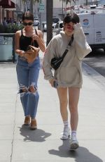 Olivia and Isabella Giannulli are seen getting their nails done at their mother