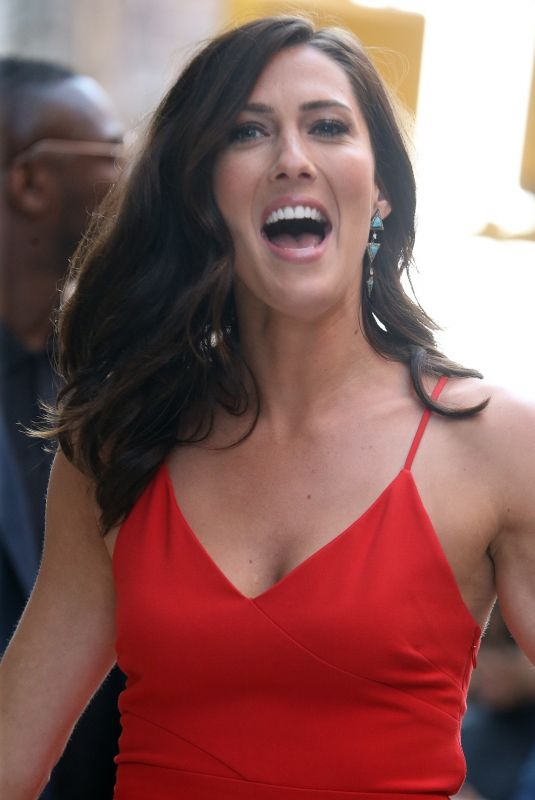 Rebecca Kufrin Poses for pictures as she leaves AOL