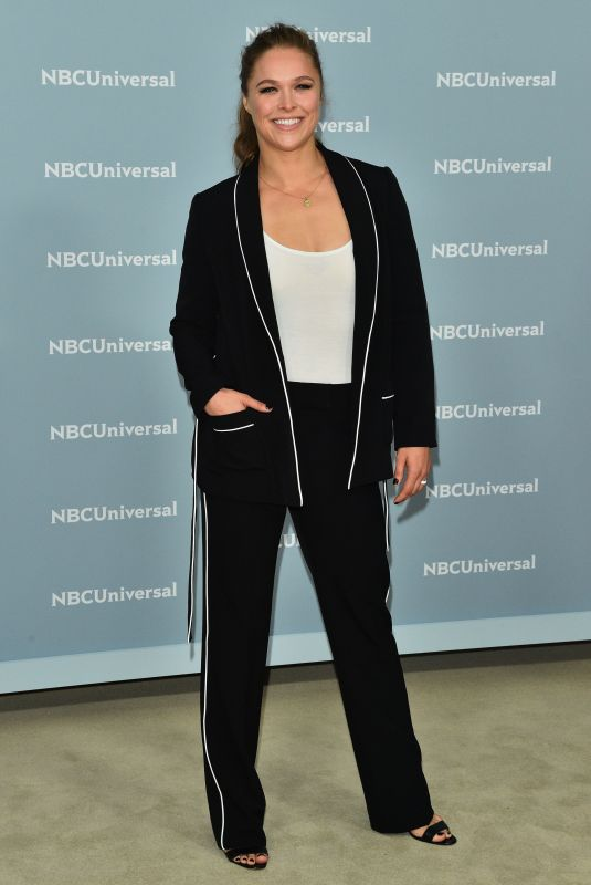 Ronda Rousey Attends the 2018 NBCUniversal Upfront at Rockefeller Center in New York City