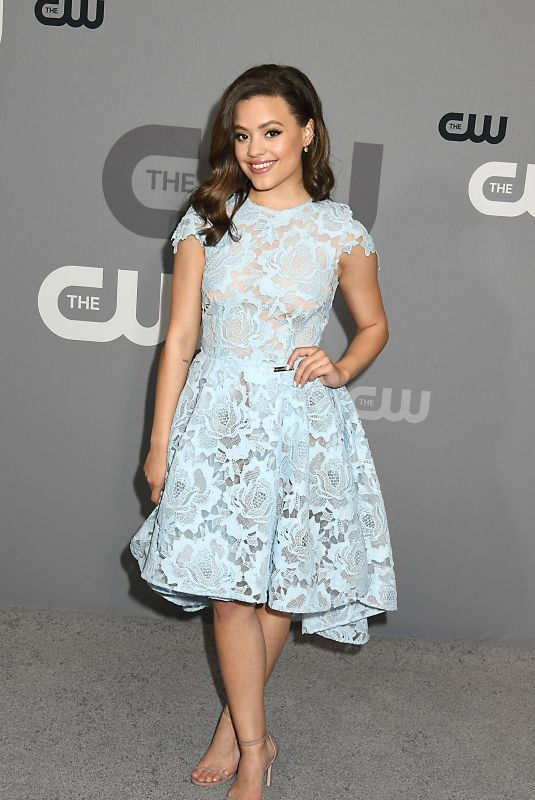 Sarah Jeffery Attends the CW Upfront 2018-2019 at The London Hotel in New York