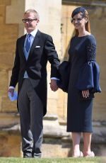 Sarah Rafferty At The wedding of Prince Harry and Meghan Markle Pre-Ceremony in Berkshire