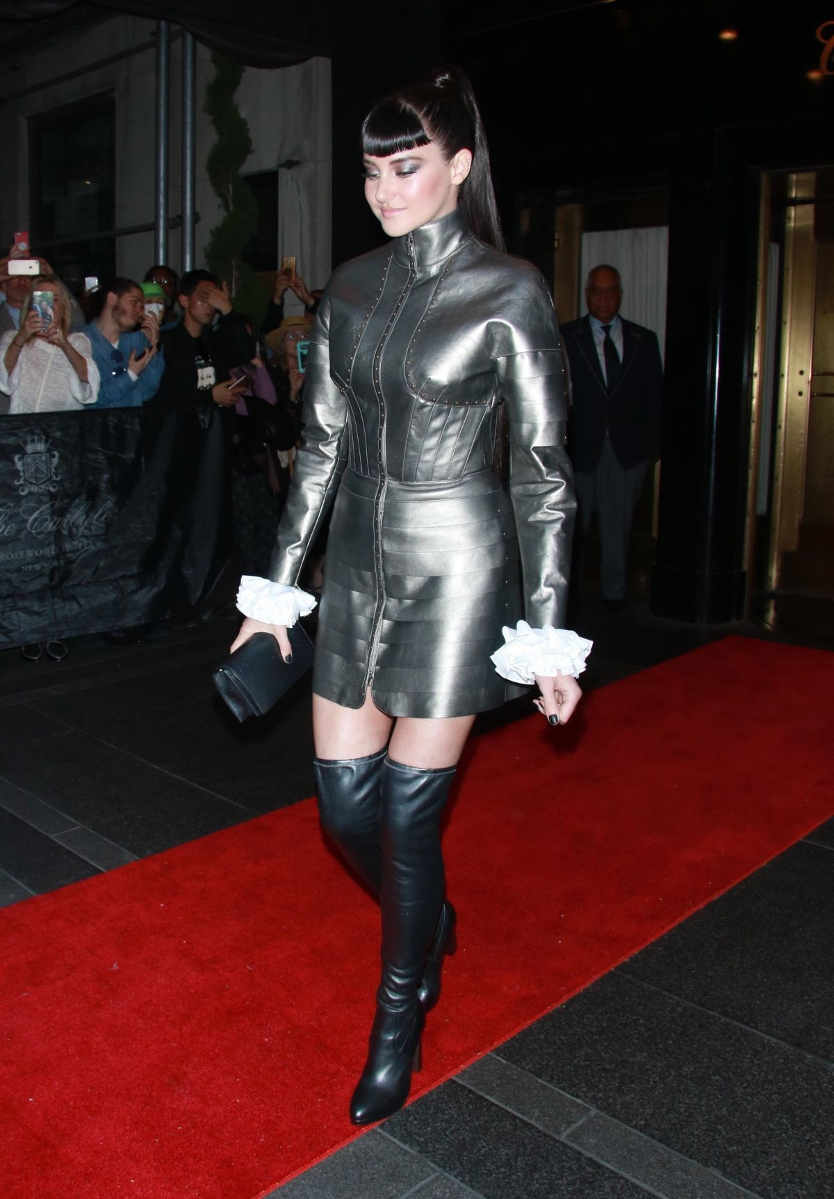 Shailene Woodley Leaves The Mark Hotel and heads to The Met Gala in