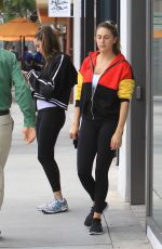 Sistine Rose and Scarlet Rose Stallone go shopping with friends in Beverly Hills