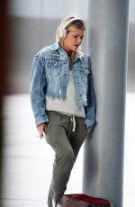 Sophie Monk Looking tired and dishevelled after a long haul flight, London