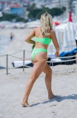 Tallia Storm At the Beach and Croisette in Cannes