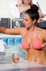 Tulisa Contostavlos Poolside at the Standard Hotel in Los Angeles
