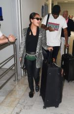Vanessa White and Mystery Man Arrive at Nice Airport for Cannes Film Festival