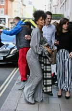 Zazie Beetz Arriving back at Claridges Hotel in London