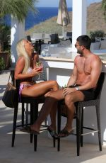Amber Turner On holiday in Santorini, Greece