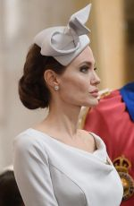 Angelina Jolie Attends Service Marking 200th Anniversary of Most Distinguished Order of St Michael and St George at St.Pauls Cathedral