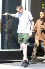 Ariana Grande and Pete Davidson hold hands as they go furniture shopping in New York City