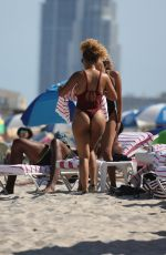 Ashly Ariza Spotted on the beach in Miami