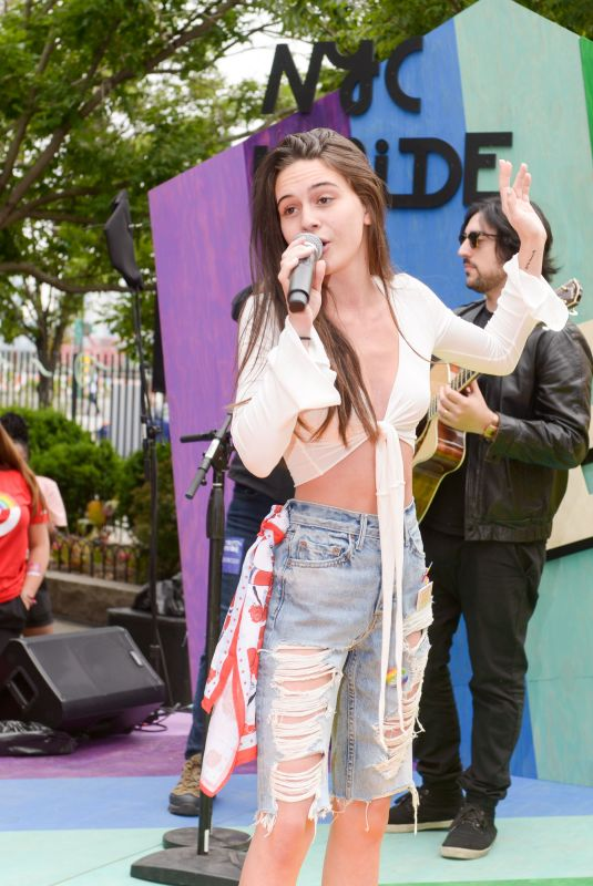Bea Miller Performing at NYC Pride at 14th Street Park in New York