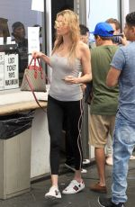Brandi Glanville Spotted going braless while running errands in Beverly Hills