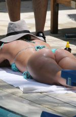 Britney Spears Sunbathes poolside in Miami