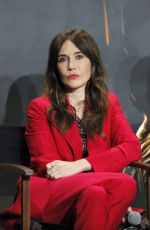 """Carice van Houten At Press conference with the actors of TV show """"Game of Thrones"""" in Paris"""