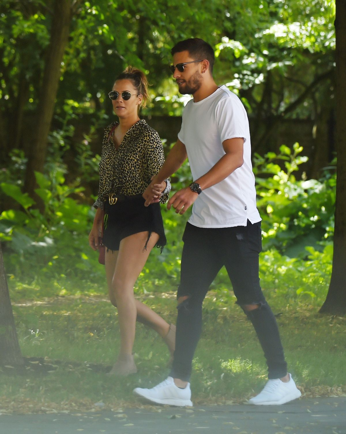 Caroline Flack and Andrew Brady out and about, London ...
