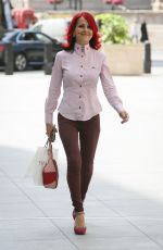 Carrie Grant Arriving at the BBC studios in London