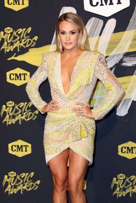 Carrie Underwood At 2018 CMT Music Awards Love from the Bridgestone Arena in Nashville