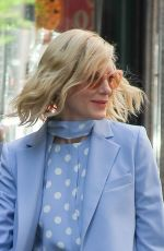 Cate Blanchett Was spotted wearing a light blue outfit in New York City