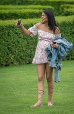 Chanel Iman and Nickayla Rivera at a country estate near Windsor just outside of London