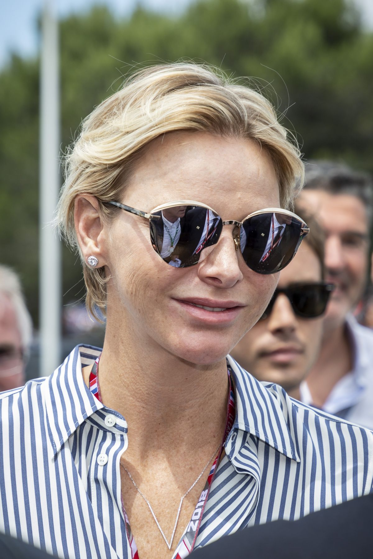 charlene princess of monaco at the 2018 f1 france grand prix in le castellet monaco celebzz. Black Bedroom Furniture Sets. Home Design Ideas