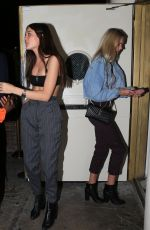 Charlotte Lawrence With friends at Delilah in West Hollywood