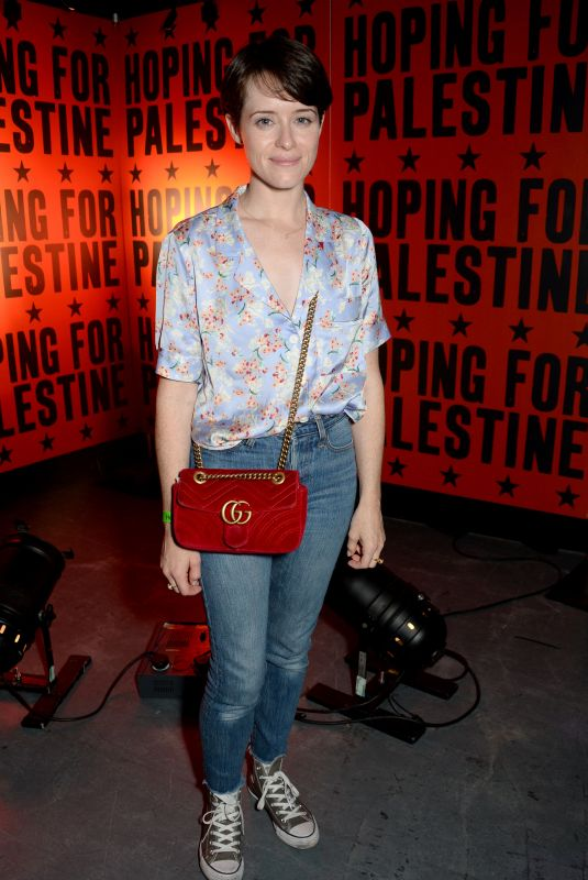 Claire Foy At Hoping for Palestine 2018, London, UK