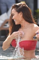 Daphne Joy In red as she has some downtime in Mykonos