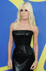 Donatella Versace Attends the 2018 CFDA Fashion Awards at Brooklyn Museum in New York City