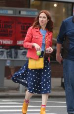Ellie Kemper Leaving the set of Unbreakable Kimmy Schmidt after Filming in the East Village