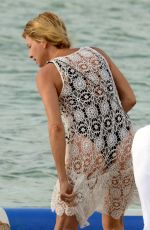 Giulia Siegel Was spotted enjoying a day out at the beach in Formentera